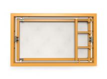 Ревизионный люк под плитку, распашной на присоске 300Х200