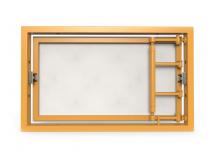 Ревизионный люк под плитку, распашной с регулировкой на присоске 300Х200