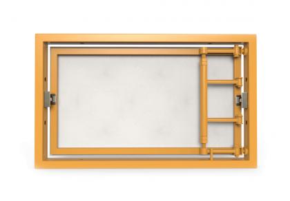 Ревизионный люк под плитку, распашной с регулировкой на присоске 400Х300