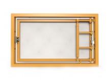 Ревизионный люк под плитку, распашной с регулировкой 300Х200