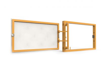 Ревизионный люк под плитку, распашной, нажимной 400Х250